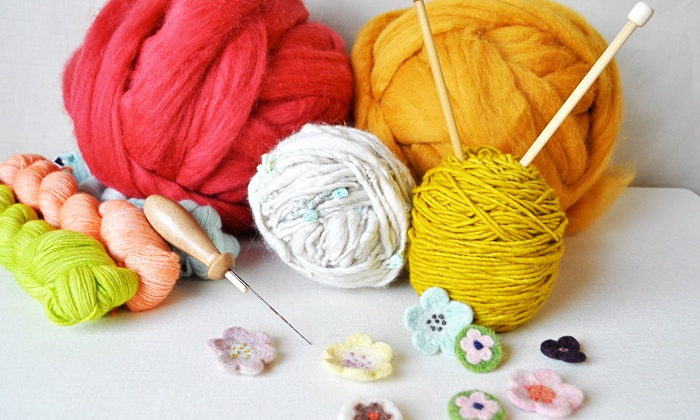 Cast Away & Folk - Historic Railroad Square Association: Three Knitting or Crochet Classes or One Needle Felting Class at Cast Away & Folk (Up to 50% Off)