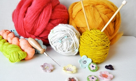 Three Knitting or Crochet Classes or One Needle Felting Class at Cast Away & Folk (Up to 50% Off)
