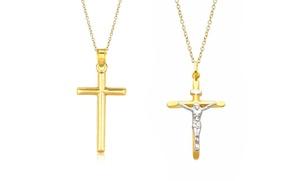 Solid 14k Gold Cross Pendants