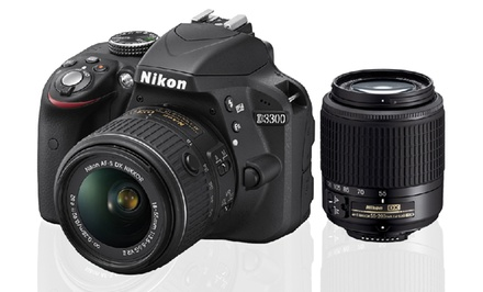 Nikon D3300 24.2MP DSLR with 18–55mm Lens and Optional 55–200mm Lens from $399.99–$499.99 (Manufacturer Refurbished)