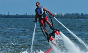 Jump Right In Flyboarding: 30-Minute Flyboarding Session for One or Two Jump Right In Flyboarding (Up to 55% Off). Two Locations Available.