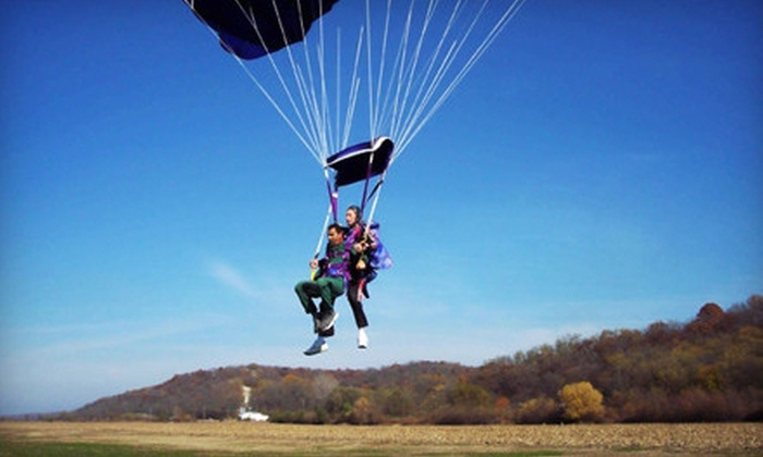 Falcon Skydiving Team - Noah's Ark Airport: $129 for a Tandem Skydiving Jump from Falcon Skydiving Team ($198 Value)