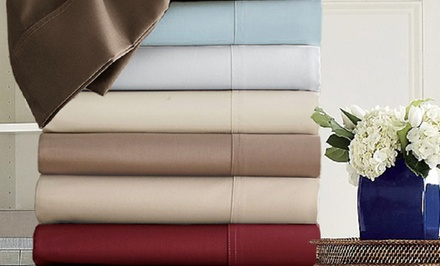 groupon daily deal - Hotel Grand 800-Thread-Count Egyptian Cotton Sheet Set. Twin–California King Sizes Available. Free Returns.