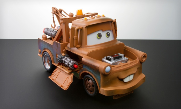 "Disney's Bomb Blastin' Mater Toy: $29 for a Disney Bomb Blastin' Mater from Pixar's ""Cars 2"" ($69.99 List Price). Free Shipping and Free Returns."