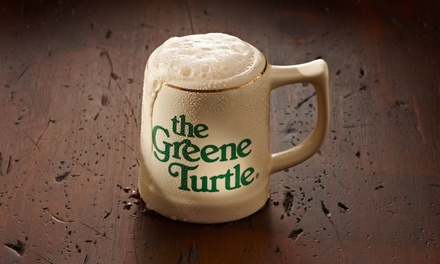 Two American Appetizers with Two 16-Ounce Beers for Two at The Greene Turtle - Hunt Valley (Up to 58% Off)