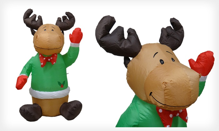 4-Foot Penguin or Reindeer Inflatable: $3.99 for a 4-Foot Penguin or Reindeer Christmas Inflatable ($39.99 List Price)