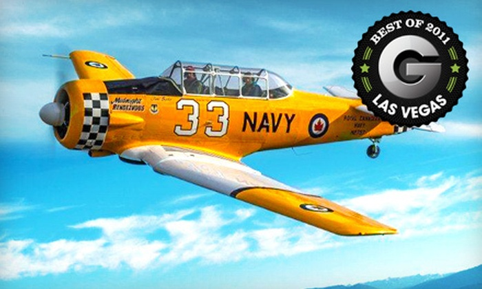 Sky Combat Ace - Las Vegas: $199 for an Aerobatic Warbird- or Afterburner-Flight Experience and Flight Museum Entry at Sky Combat Ace in Henderson (Up to $509 Value)