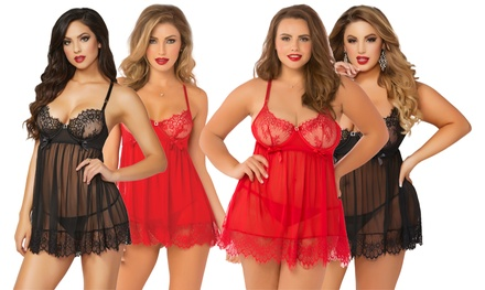 Seven til Midnight Babydoll Set