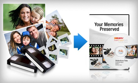 Photo- and Video-Digitization Services from ScanDigital (Up to US$250 Value). Two Options Available.