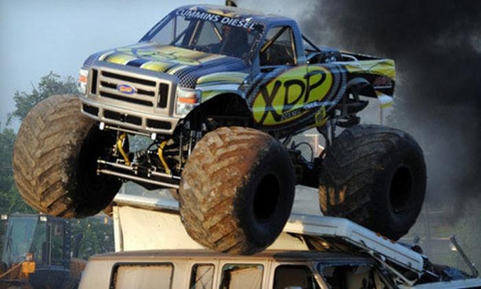 KSR Motorsports' Monster Truck Thrill Show - LuLu Shriners Arena: KSR Motorsports' Monster Truck Thrill Show at LuLu Shriners Arena on May 24 or 25 (Up to 55% Off)