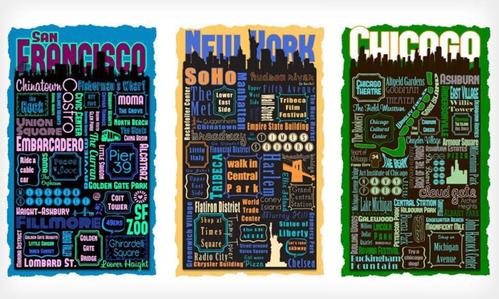 City Metro Montage on Gallery-Wrapped Canvas: $59 for a City Metro Montage on Canvas ($225 List Price). Multiple Options Available. Free Shipping and Free Returns.
