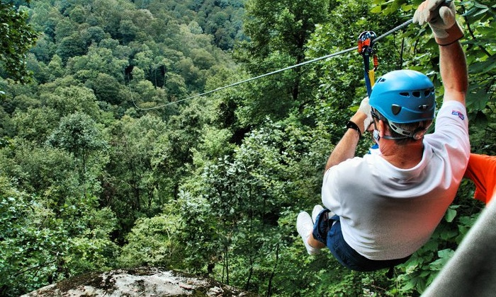 Black Mountain Thunder Zipline - Harlan County: Two-Hour Zipline Tour for One or Two from Black Mountain Thunder Zipline (Up to 56% Off)