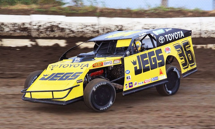 Kenny Wallace Dirt Racing Experience - East Bay Raceway Park: 3-Lap Ride-Along or 10- or 15-Lap Driving Session with Kenny Wallace Dirt Racing Experience (Up to 55% Off)