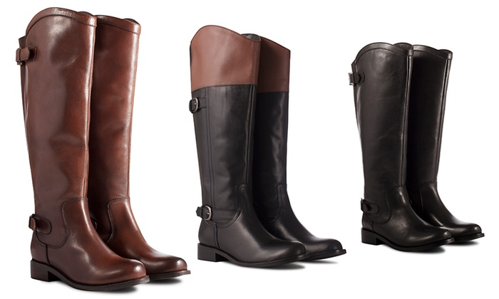 9b2be64b6a36fb Elasticated Riding-Style Boots | Groupon Goods