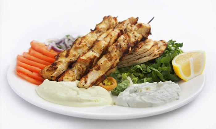 BZ Grill - Astoria: Greek Meal with Wine for Two at BZ Grill (Up to 57% Off)