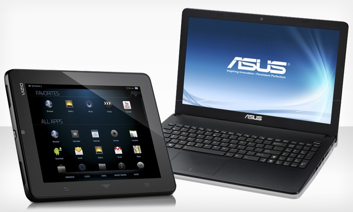 "ASUS 15.6"" Laptop and Vizio Tablet Bundle: $399.99 for ASUS Laptop & Vizio Tablet Bundle (Manufacturer Refurbished) ($638.99 List Price). Free Shipping & Returns."
