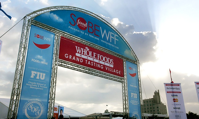EPIC Trip for Two to Food Network South Beach Wine & Food Festival with Optional Round Trip Airfare - South Beach: EPIC Trip for Two to Food Network South Beach Wine & Food Festival presented by FOOD & WINE with 4.5-Star Hotel; Optional Round-Trip Airfare