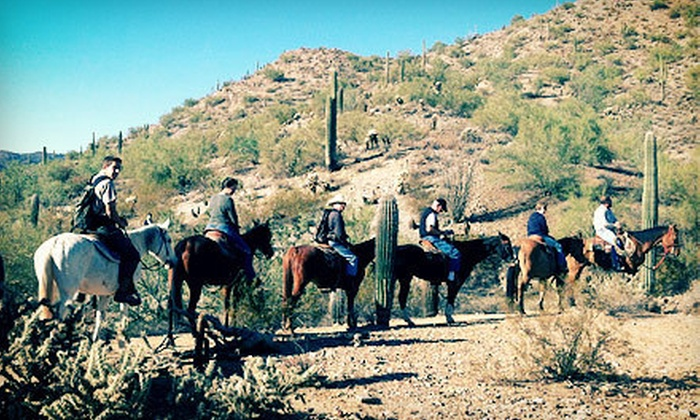 MD Ranch - North Pinal: Two-Hour Horseback Trail Ride for Two or Four from MD Ranch (Up to 52% Off)