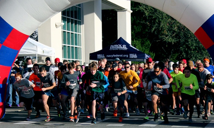 National Museum of the Mighty Eighth Air Force - Pooler: Race Entry for One, Two, or Four to Flying Fortress 5K Race on Saturday, November 16, 2013 (Up to Half Off)