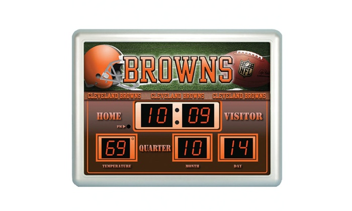 Nfl Scoreboard Wall Clock Groupon