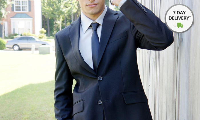 Status Menswear Two-Piece Suit and Tie : Status Menswear Two-Piece Suit and Tie. Multiple Sizes Available. Free Returns.