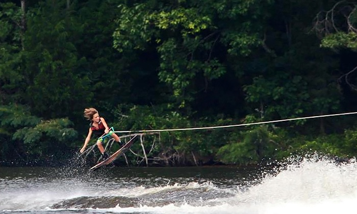 Hexagon Wake Park - Banner: Two-Hour Wakeboarding Pass, Intro to Cable Wakeboarding, or Four Passes at Hexagon Wake Park (Up to 50% Off)