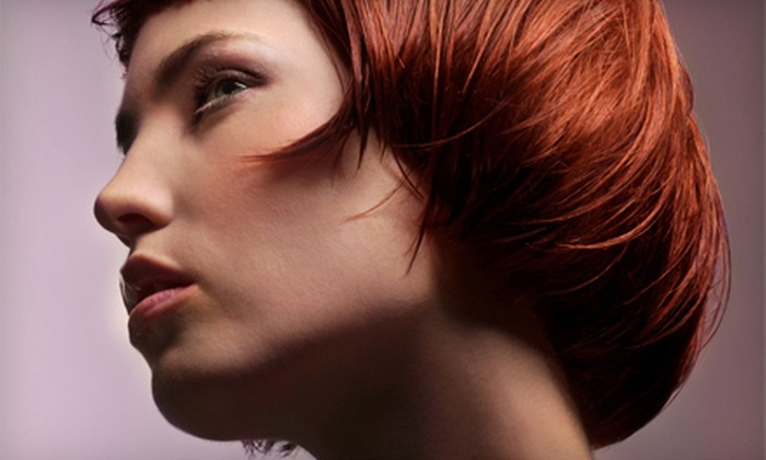 Club Beauty - Ellet: Hair Trim with Color and Conditioning Treatment or Color and Highlights at Club Beauty (Up to 54% Off)