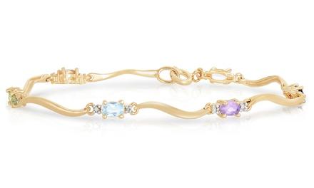 2.37 CTTW Oval Multi-Colored Diamond Bracelet