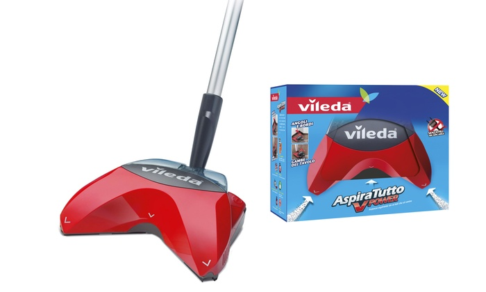 Scopa aspiratutto vileda v power groupon goods for Ricambi scopa elettrica vileda