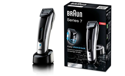braun series 7 beard trimmer groupon goods. Black Bedroom Furniture Sets. Home Design Ideas
