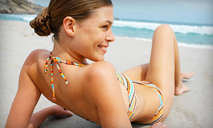 Electric Beach - Multiple Locations: One, Three, or Five Airbrush Spray Tans at Electric Beach (Up to 67% Off)