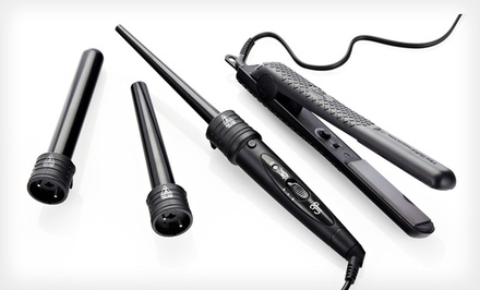 HerStyler Hair Straightener and 3-Piece Curler in Black or Hot Pink. Free Returns.