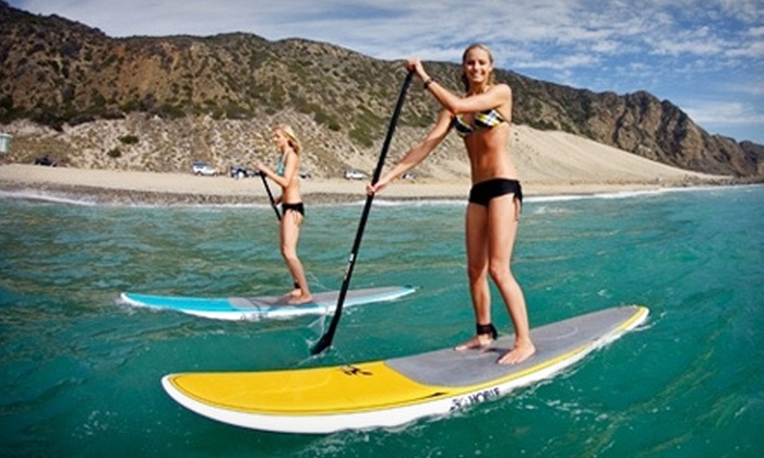 Harvey Cedars Marina - Holiday Heights: Standup-Paddleboard Rental for Two or Four or Hobie Wave Catamaran Rental at Harvey Cedars Marina (Up to 65% Off)