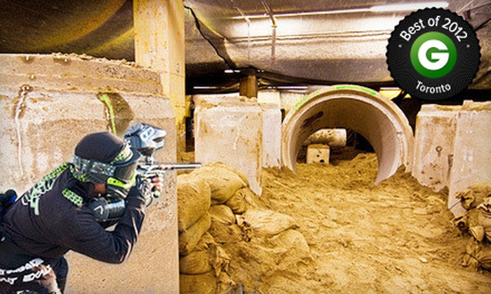 Defcon Paintball - Toronto Location: $25 for Four Hours of Paintball for Two with Gear, Paintballs, and Unlimited HPA at Defcon Paintball ($89.96 Value)