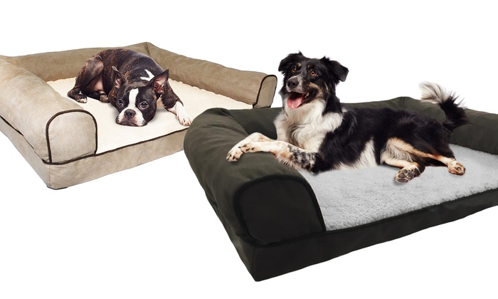 Microsuede Orthopedic Pet Bed Groupon Goods