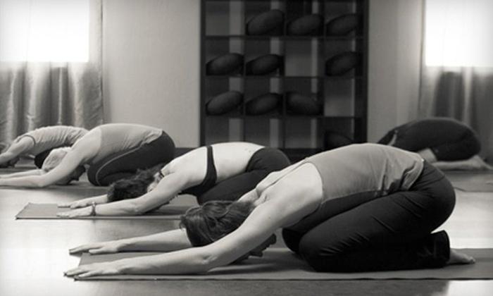 Prajna Yoga & Healing Arts - Belmont: 10 Classes or One Month of Unlimited Classes at Prajna Yoga & Healing Arts (Up to 67% Off)