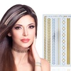 Temporary Metallic Hair Tattoos (3-Pack)