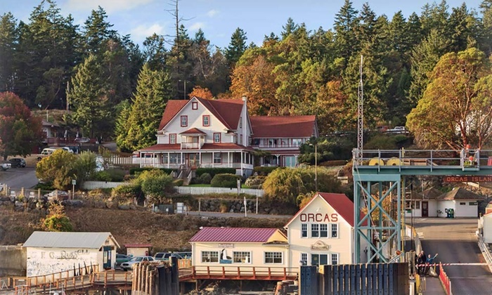 Orcas Hotel - Orcas, WA: 1 or 2 Nights with Daily Breakfast and Dinner Entree for Two at Orcas Hotel on Orcas Island, WA. Combine Up to 4 Nights.