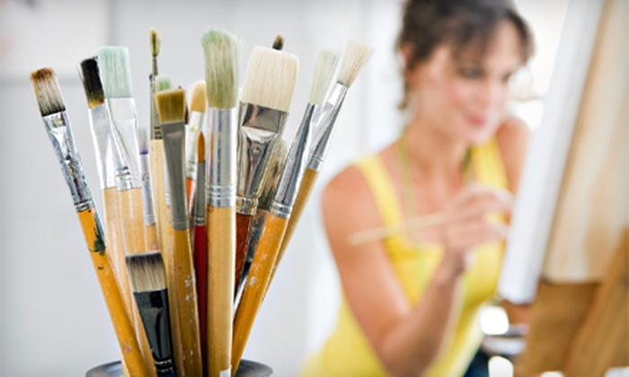 Corks & Strokes - Downtown Bakersfield: Two-Hour BYOB Painting Class for One, Two, or Four at Corks & Strokes (Up to Half Off)
