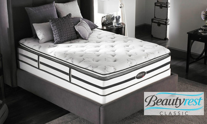 Simmons Beautyrest Pillow Top Mattress: Simmons Beautyrest Anacostia Plush Pillow Top Mattress (Up to 57% Off). Five Sizes Available. Free White Glove Delivery.