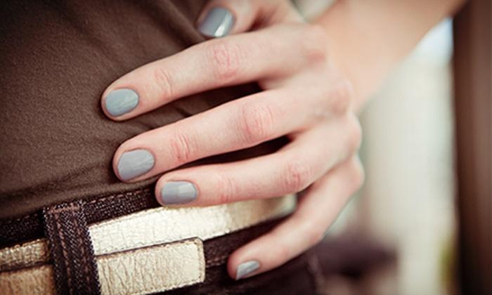 Day Lily Hair and Nail Salon - Shops at Galleria: Shellac Manicure or Spa Mani-Pedi at Day Lily Hair and Nail Salon (Half Off)