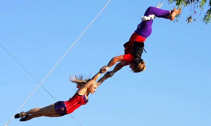 SwingIt Trapeze - West Center Promenade: One Trapeze Session for Two People, or Three Trapeze Sessions for One Person at SwingIt Trapeze (Up to 54% Off)