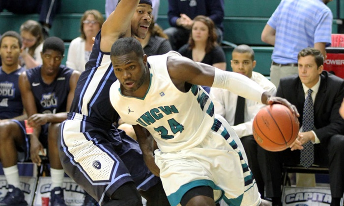 UNCW Athletics Men's Basketball - Wilmington: $16 for a UNCW Seahawks Men's Basketball Game for Two at Trask Coliseum ($32 Value)