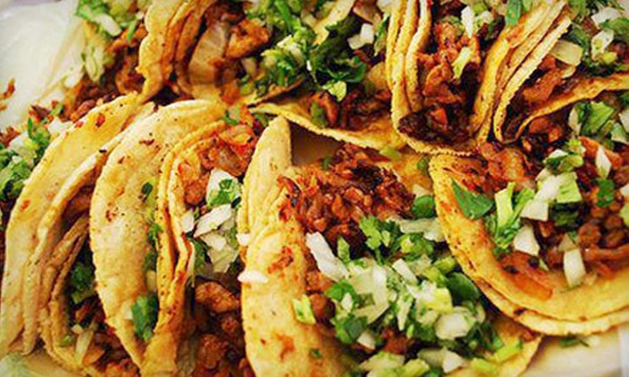 Ocho Taqueria - Del Amo Fashion Center: Five-Course Mexican Dinner for Two or Four with Optional Pitcher of Margaritas at Ocho Taqueria (Up to 51% Off)