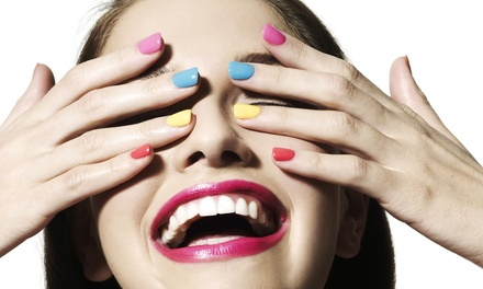 Full Set of Acrylic Nails, or 1 Regular, Spa, or Gel Mani-Pedi from Shannon Huff at Hair We Love (Up to 51% Off)