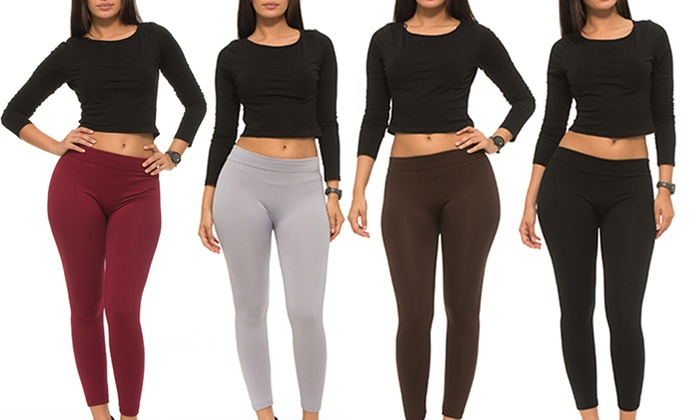 37d14a5512145a Up To 72% Off on Women's Fleece Lined Leggings | Groupon Goods