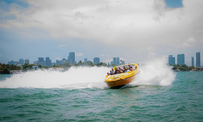 Jet Boat Miami - Downtown Miami: Boat Tour for Two or Four from Jet Boat Miami (Up to 42% Off)