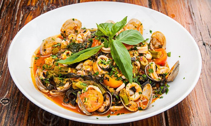 Toscana Cafe - Capitol Hill: Wine Dinner for Two or Four or $25 for $50 Worth of Italian Cuisine at Toscana Cafe