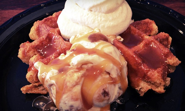 Max and Bear's Ice Cream & Dessert Waffles - Newport: $15 for a Six-Visit Punch Card at Max and Bear's Ice Cream & Dessert Waffles ($30 Value)