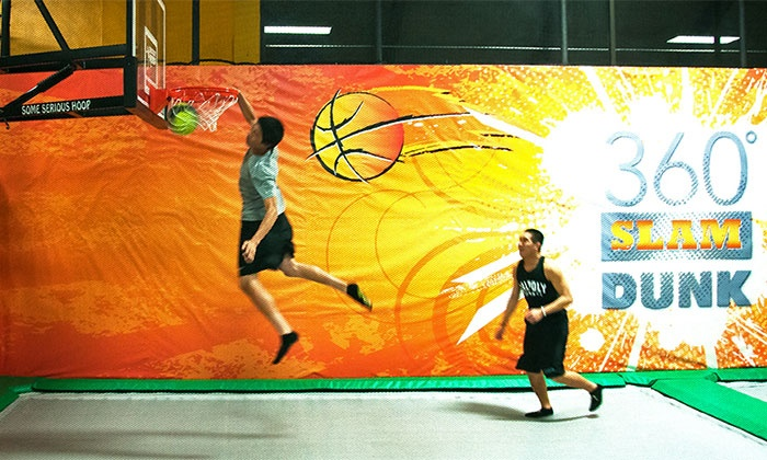 One-Hour Jump Pass for Two, Four, or Six or Birthday Party for 10 at Rockin' Jump (Up to 46% Off)